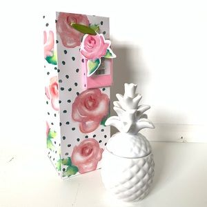 Other - ★ CUTE BOTANICAL PINK FLORAL POLKADOT GIFT BAG